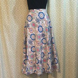 Christopher & Banks long floral skirt